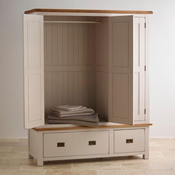 Tủ quần áo Sintra 3 cánh 2 ngăn kéo gỗ sồi 1m60 - Cozino