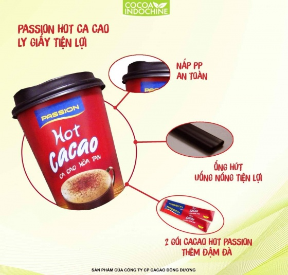 Cacao Passion Hot ly giấy - Cocoa Indochine