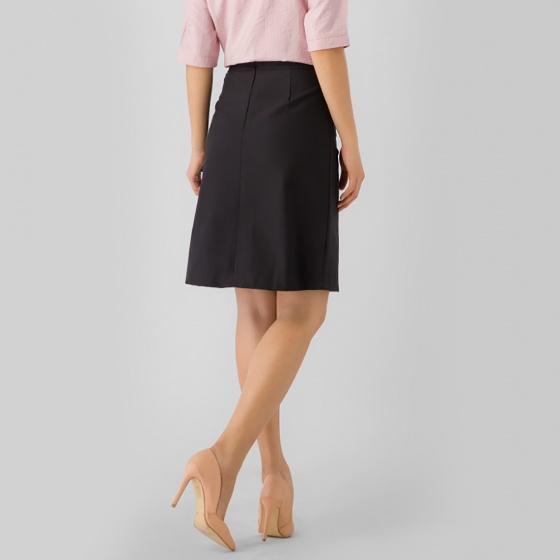 Chân váy chữ a công sở Eden phối nút CV006
