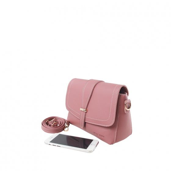 Túi thời trang Verchini màu hồng ruốc 02003197