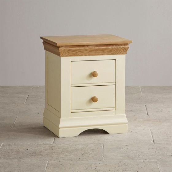 Tủ đầu giường Canary 2 ngăn gỗ sồi - Cozino