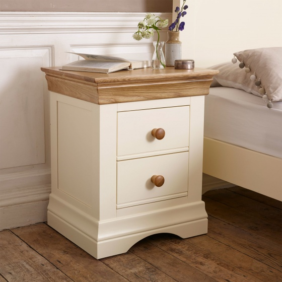 Tủ đầu giường Canary 2 ngăn gỗ sồi- COZINO