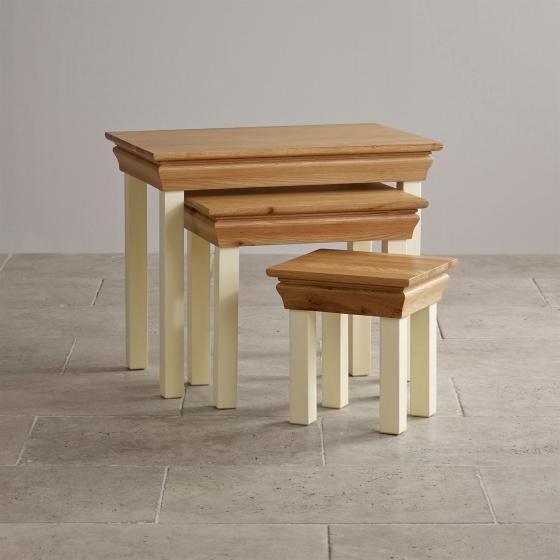 Bộ bàn xếp lồng Canary gỗ sồi  - Cozino