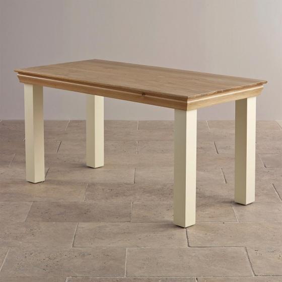 Bàn ăn 4 chỗ Canary gỗ sồi 1m2 (120x60cm) - Cozino