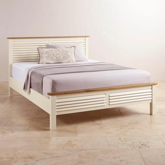 Giường đôi Chillon gỗ sồi 2m - Cozino
