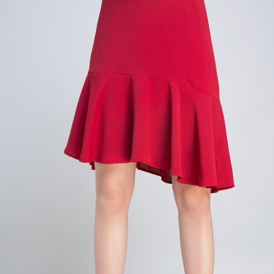 Đầm trễ vai Hity DRE006 (đỏ cabernet)