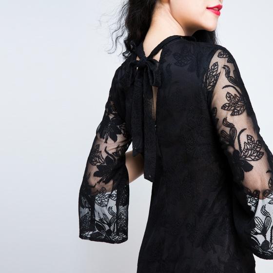 Đầm ren cổ choker Hity DRE030 (đen noir)