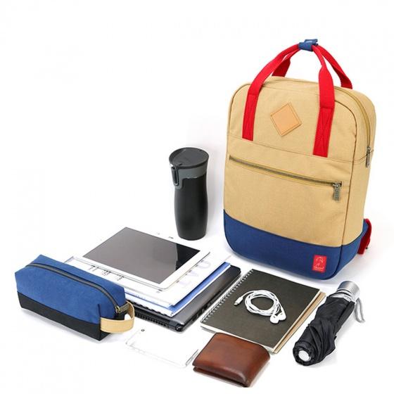 Balo canvas thời trang Glado GDP001 - Daypack All Black  (màu đen) - tặng túi phụ kiện canvas