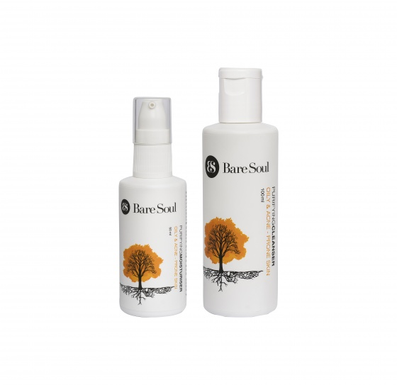 Combo Sữa rửa mặt & Kem dưỡng thanh lọc full size - Da dầu và da mụn - Purifying Cleanser & Moituriser Oily & Acne Prone Skin