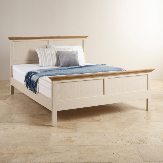 Giường đôi Sark gỗ sồi 1m6 - Cozino