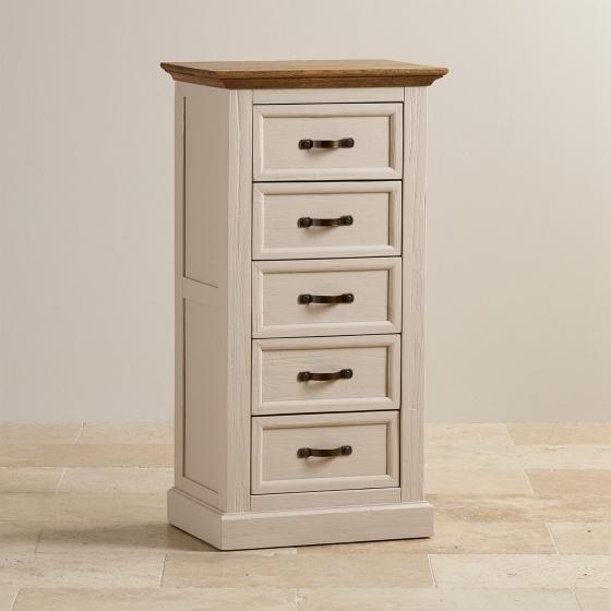 Tủ ngăn kéo đứng Sark 5 hộc gỗ sồi - Cozino
