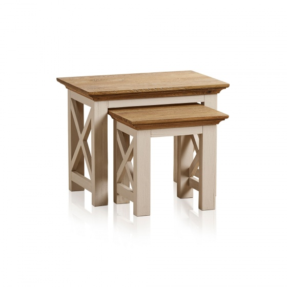 Bộ bàn xếp lồng Sark gỗ sồi - Cozino