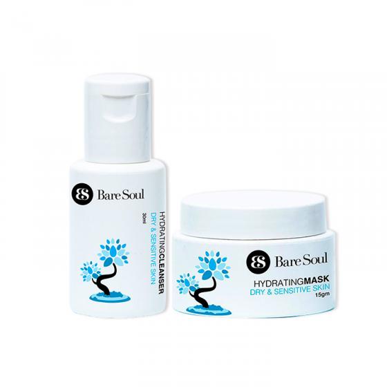 Combo Sữa rửa mặt và Mặt nạ nuôi dưỡng travel size – Da khô và da nhạy cảm – Hydrating Cleanser & Mask Dry & Sensitive Skin