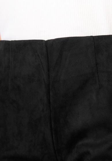Quần dài kiểu nữ da lộn Kassun đen