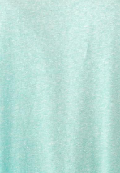 Áo kiểu nữ cánh dơi cổ tròn tà chéo Kassun xanh nhạt