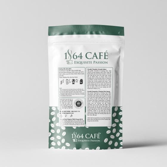 Bộ cà phê tinh khiết chuyên dùng pha phin cà phê sữa đá chuẩn gu thưởng thức việt nam tổng trọng lượng 440g + 01 phin + 01 ly thủy tinh 1864 CAFÉ®