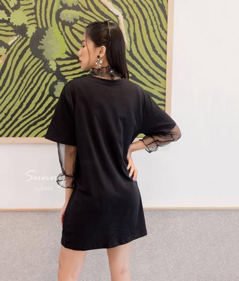 Áo đen trong suốt Kimi - AK180048