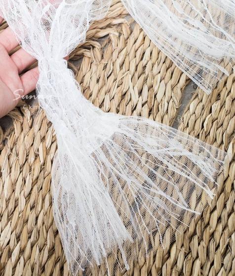 Áo lưới trắng tay dài -AK180049