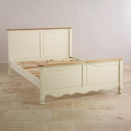 Giường đôi Skye gỗ sồi 1m6 - Cozino