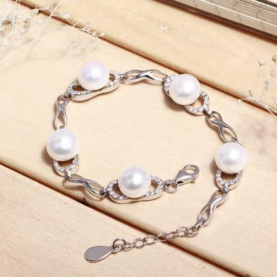 Lắc tay bạc Nice Pearl Eropi