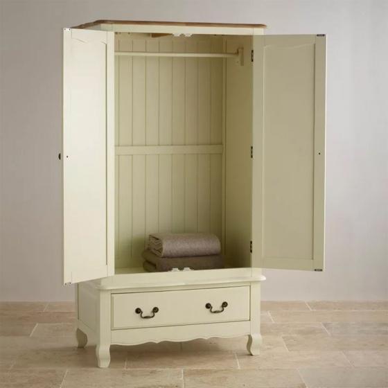 Tủ quần áo Skye 2 cánh 1 ngăn kéo gỗ sồi 1m - Cozino