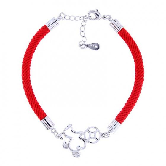 Vòng tay may mắn puppy ngậm xu - Tatiana - VB2304 (Đỏ)