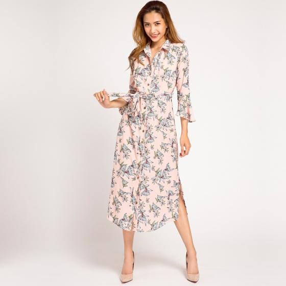 Đầm maxi hoa floral princess Hity DRE067 (hồng anh đào sakura)