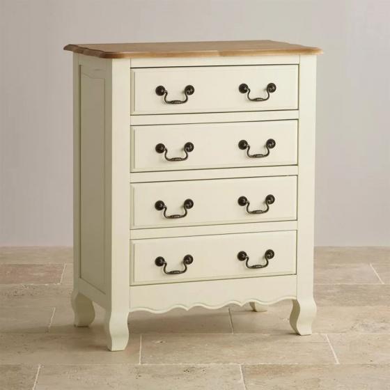 Tủ ngăn kéo ngang Skye 4 hộc gỗ sồi - Cozino