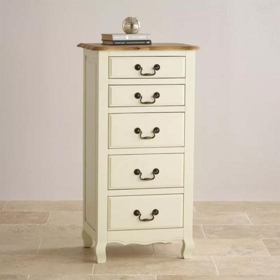 Tủ ngăn kéo đứng Skye 5 hộc gỗ sồi - Cozino
