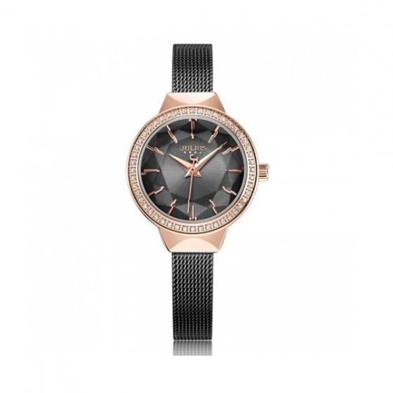Đồng hồ nữ dây thép Julius Hàn Quốc JA-1043E đen