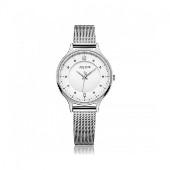 Đồng hồ nữ Julius Hàn Quốc dây thép JA-1060A bạc