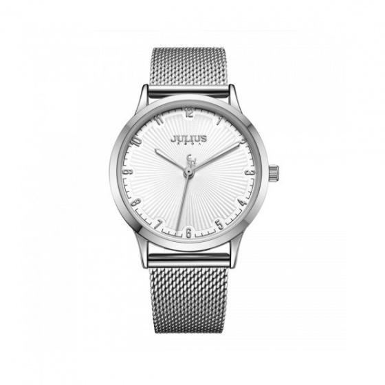 Đồng hồ dây thép nữ Julius Hàn Quốc JA-1075A bạc