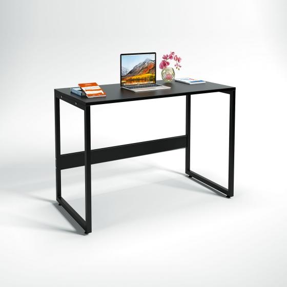 Bộ bàn làm việc CZN-Havant gỗ tự nhiên sơn đen chân đen và ghế eames đen- COZINO