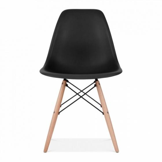 Bộ bàn làm việc CZN-Havant gỗ tự nhiên sơn trắng chân trắng và ghế eames đen - COZINO