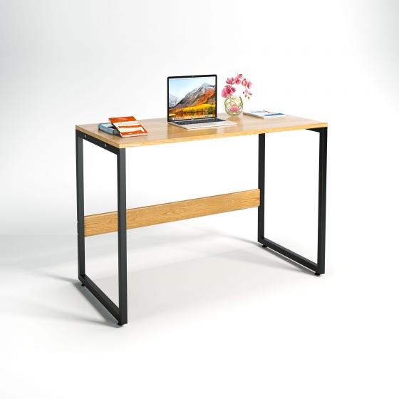 Bộ bàn làm việc CZN-Havant gỗ tự nhiên veneer sồi chân đen và ghế eames trắng- COZINO