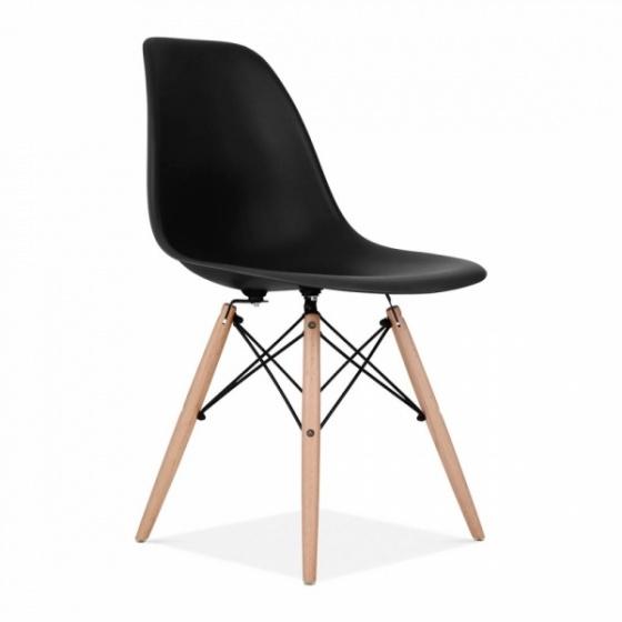 Bộ bàn làm việc CZN-Havant gỗ tự nhiên veneer sồi chân trắng và ghế eames đen - COZINO