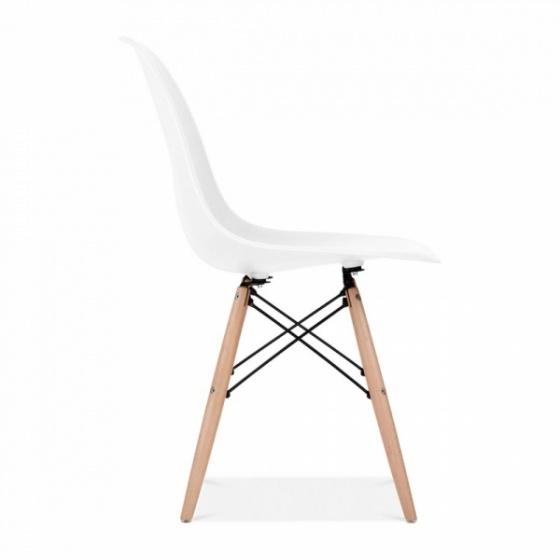 Bộ bàn làm việc CZN-Havant gỗ tự nhiên veneer sồi chân trắng và ghế eames trắng - COZINO