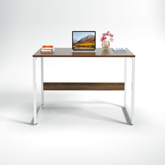 Bộ bàn làm việc CZN-Havant gỗ tự nhiên veneer óc chó chân trắng và ghế eames đen - COZINO