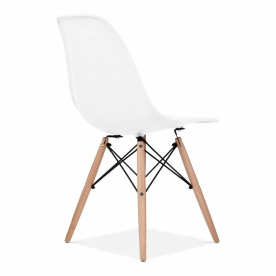 Bộ bàn làm việc CZN-Havant gỗ tự nhiên veneer óc chó chân trắng và ghế eames trắng   - COZINO