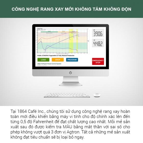 220g Thunder No.1 xay sẵn pha phin Gu Việt – 1864 CAFÉ®