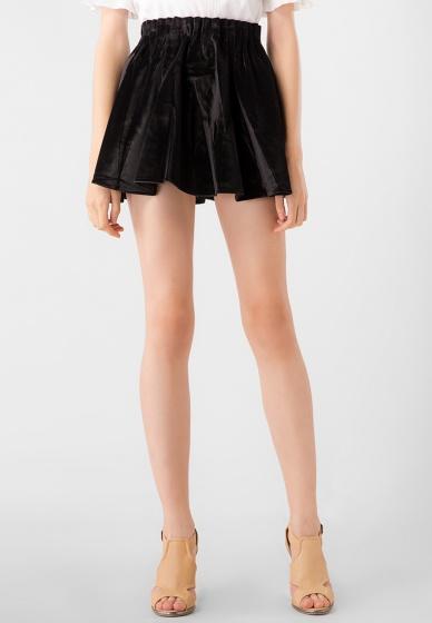 Chân váy ngắn nữ nhung Kassun đen
