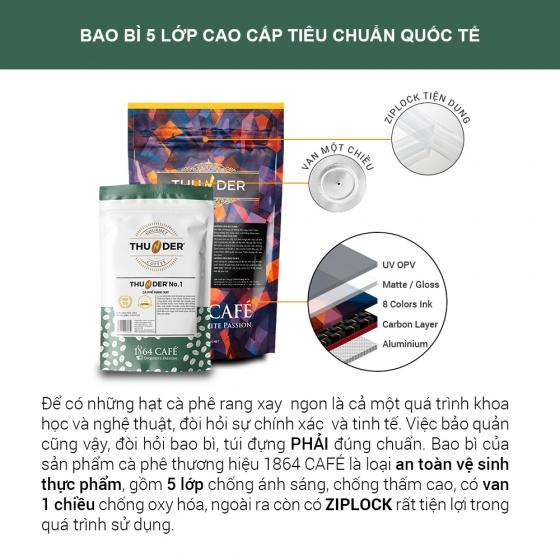 220g Thunder No.4 nguyên hạt pha phin Gu Việt – 1864 CAFÉ®