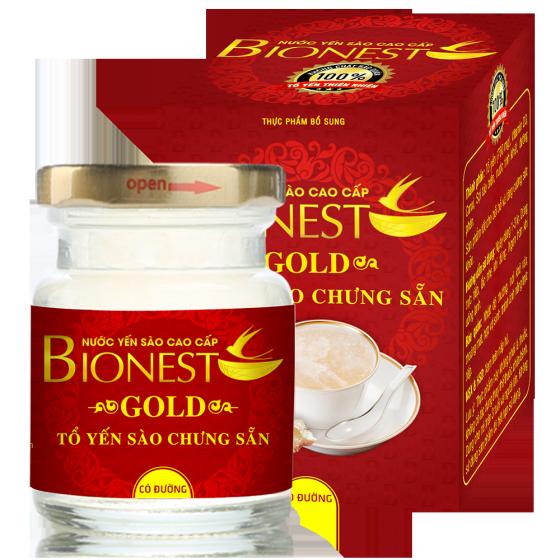 4 Hộp yến sào Bionest Gold cao cấp - hộp quà tặng 6 lọ