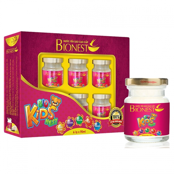 6 Hộp yến sào Bionest Kids cao cấp - Quà tặng cho bé biếng ăn
