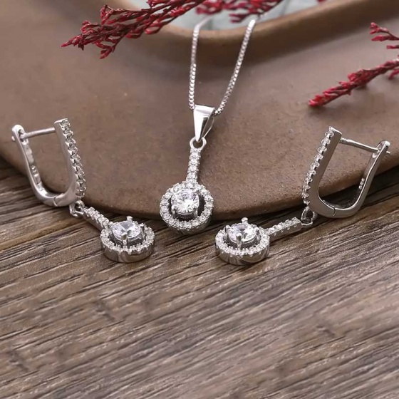EROPI- Bộ trang sức bạc Delwyn Like