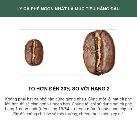 660g Thunder No.1 xay sẵn pha phin Gu Việt – 1864 CAFÉ®