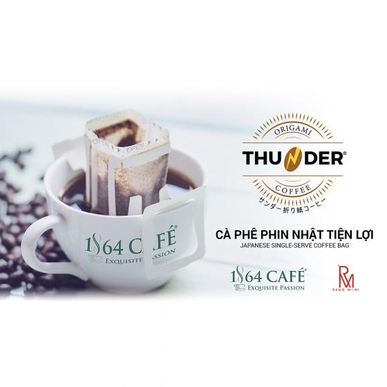 Combo (04 hộp x 5 gói x 12g) cà phê phin nhật tiện lợi - 1864 CAFÉ®