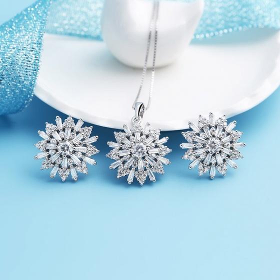 Bộ trang sức bạc Beauty Sunflower
