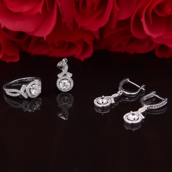 EROPI-Bộ trang sức bạc Evelynn Love