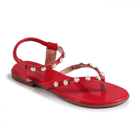 S01019 - sandal kẹp đính hột ( đỏ)